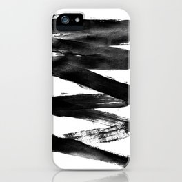 Black Lightning iPhone Case