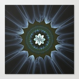 Blossom Within in White Canvas Print