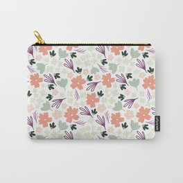 Muted Spring Floral Colors, Seamless Pattern, Fun Pattern, Spring Designs, Floral Design Carry-All Pouch