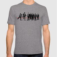 Reservoir Brothers LARGE Tri-Grey Mens Fitted Tee