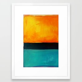 Mark Rothko Interpretation Orange Blue Framed Art Print