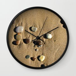 Stones in the Sand Wall Clock