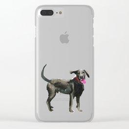 watercolor dog vol 16 silver labrador Clear iPhone Case