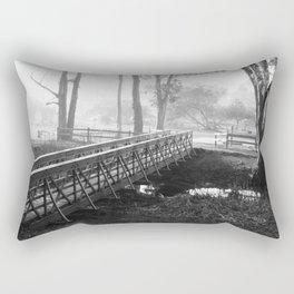 black & White Rectangular Pillow