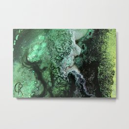 Fossil Fuels Original Abstract Painting, Contemporary Abstract Artwork Design, Abstract Painting Metal Print