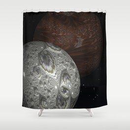 The Mars Hoax Shower Curtain