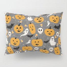 Pumpkin Party in Gray Pillow Sham