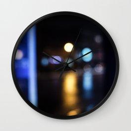 Neon city Wall Clock