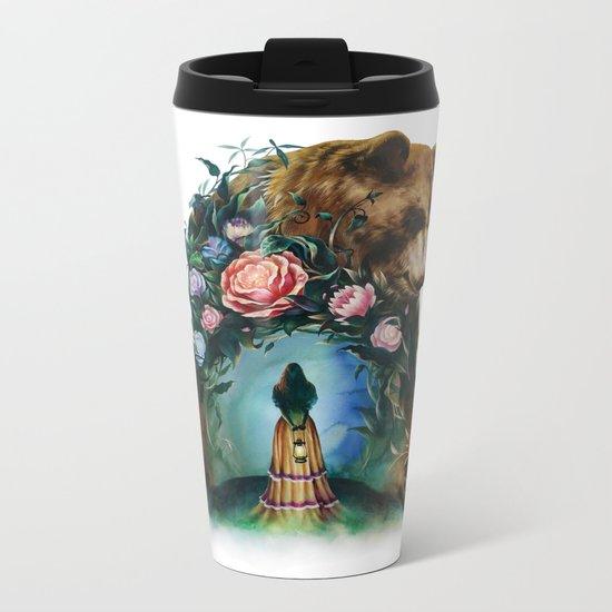 Flower & Bear Metal Travel Mug