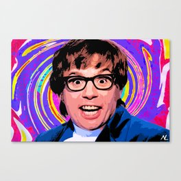 Austin Powers Groovy 60's Movie Pop Art Print Canvas Print