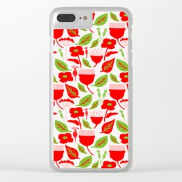 Red bloom Clear iPhone Case