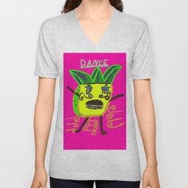 dancing pineapple Unisex V-Neck