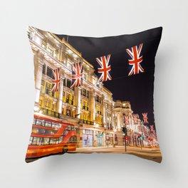 Regent Street London Throw Pillow