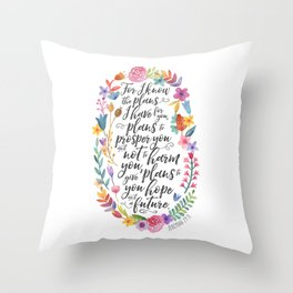 Hope and a Future - Jeremiah 29:11 Throw Pillow