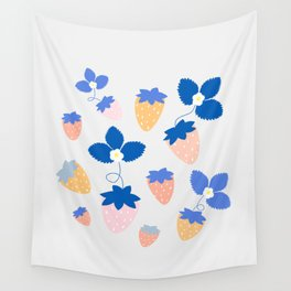 SWEET STRAWBERRIES Wall Tapestry