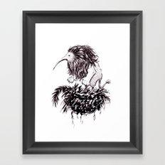 Kiwi Lion Framed Art Print