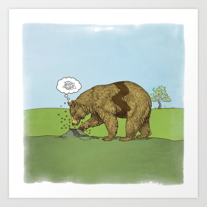 Charlie Brown Bear Art Print