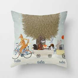 the bunny lullaby Throw Pillow