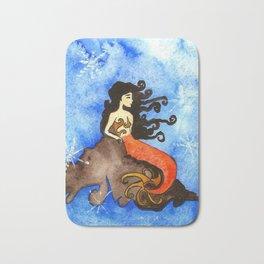 Winter Mermaid Bath Mat