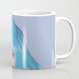 Glowing blue haired Neko Coffee Mug