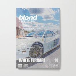 Frank Blond Vintage White Ferari Metal Print