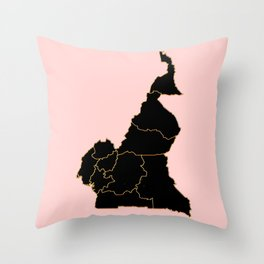 Cameroon map Throw Pillow