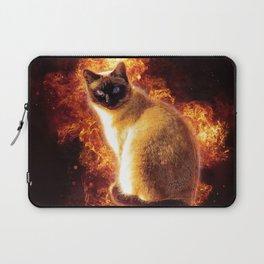 Flame Cat Laptop Sleeve