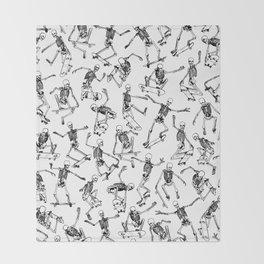 Grim Ripper WHITE Throw Blanket