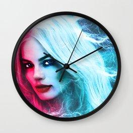 The creation of Harley Quinn - Margot Robbie Wall Clock