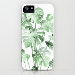 Delicate Monstera Green #society6 iPhone Case