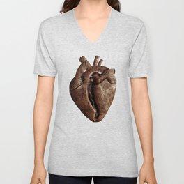 Heart Shaped Coffee Bean Unisex V-Neck