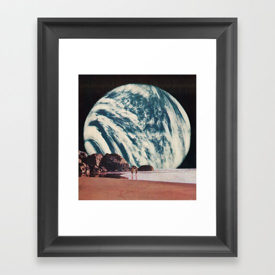 long walks on the beach Framed Art Print
