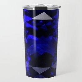 BLUE  SAPPHIRE DECEMBER GEM BIRTHSTONE MODERN ART Travel Mug