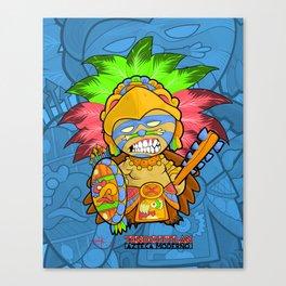 Azteca Moderno - Eagle Warrior Munny Canvas Print