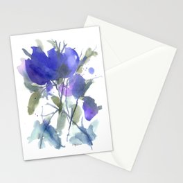 Bluest Blue Bloom Stationery Cards
