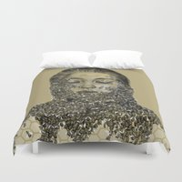 bees Duvet Covers featuring bees by stacyyufa