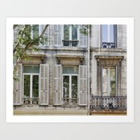 "Paris Urban Photography, ""Paris Reflections"" Large Art Print, Travel Wall Art, Living Room Fine Art  Art Print"