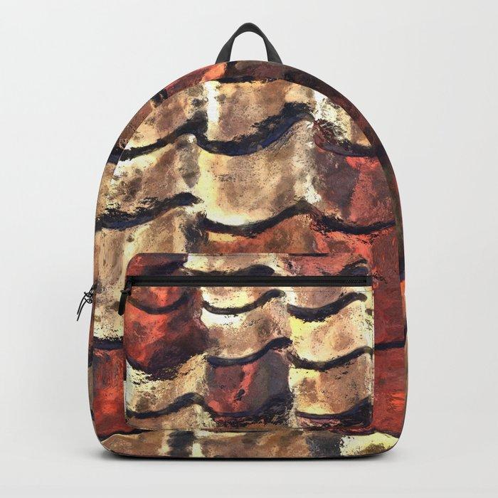 Terra Cotta Roof Tiles Backpack