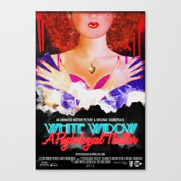 White Widow: A Psychological Thriller Canvas Print