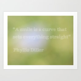 Quote from Phyllis Diller Art Print