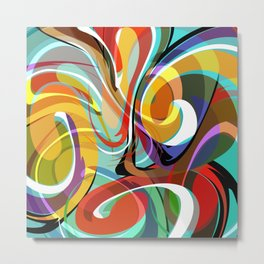 Colorful Abstract Whirly Swirls - V1 Metal Print