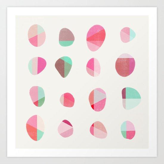 Painted Pebbles 6 Art Print