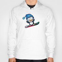 snowboarding Hoodies featuring Too Cool to Penguin by Schwebewesen • Romina Lutz