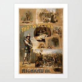 Vintage Richard III Theatre Poster Art Print
