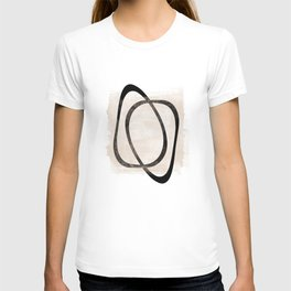 Interlocking Two AA - Minimalist Line Abstract T-shirt