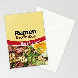 Ramen Noodle Soup - Beef Flavor Stationery Cards