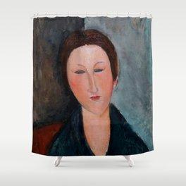 """Amedeo Modigliani """"Buste de jeune fille (Mademoiselle Marthe)"""" Shower Curtain"""
