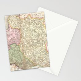 Vintage Map of Poland (1818) Stationery Cards