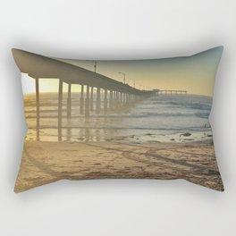 Ocean Beach Pier Rectangular Pillow