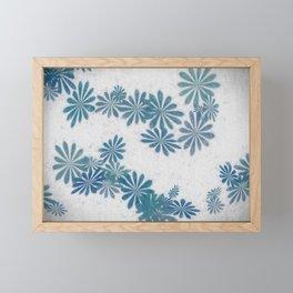 Blue torquise Framed Mini Art Print